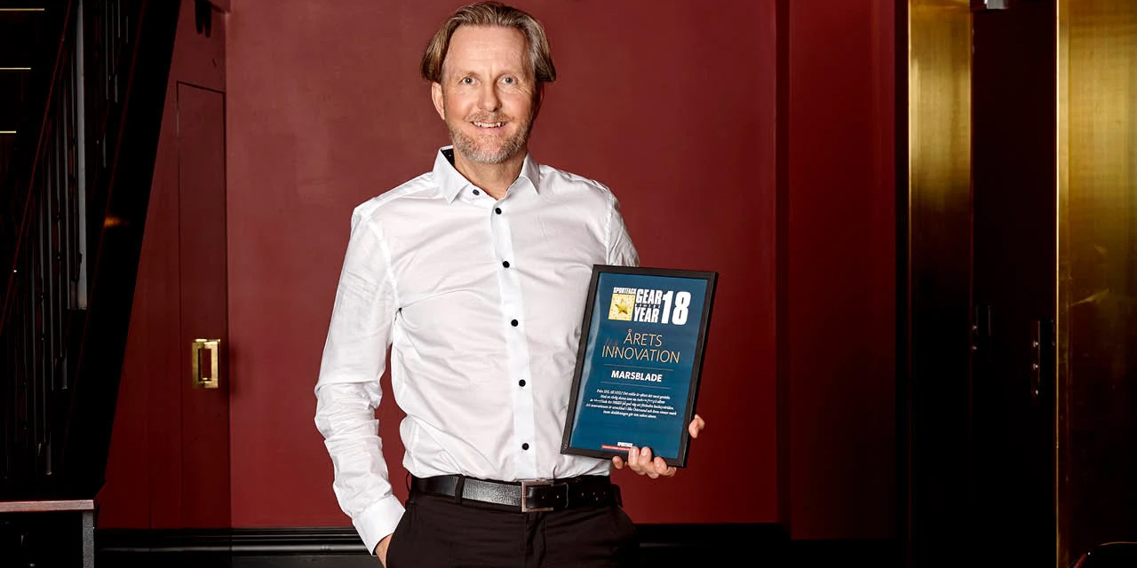 Hans Victor, CEO Marsblade, with the Innovation Award.